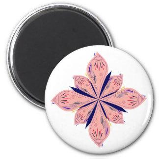 Rosé gold mandalas magnet