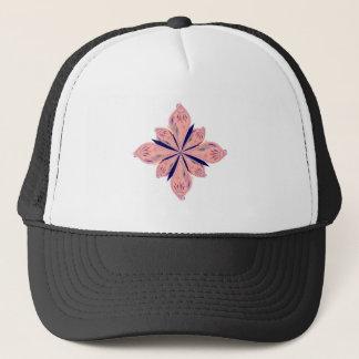 Rosé gold mandalas trucker hat