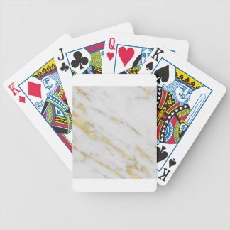 Rose Gold Marble Fashion Bicycle Playing Cards