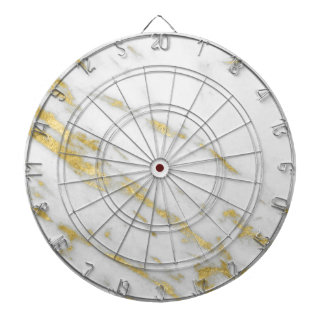 Rose Gold Marble Fashion Dartboard