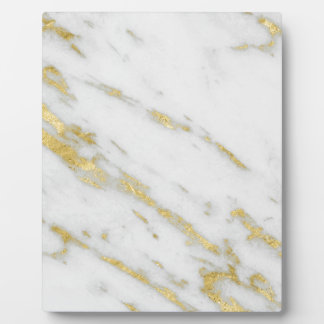 Rose Gold Marble Fashion Plaque