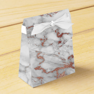 Rose Gold Marble Favor Box
