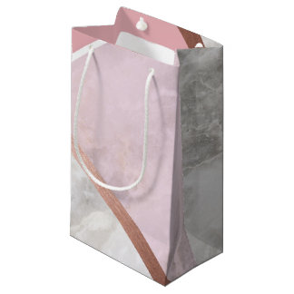 Rose Gold Marble Gift Bag