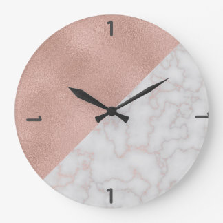 Rose Gold & Marble [HQ] Large Clock