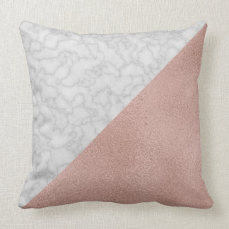 Rose Gold & Marble [HQ] Throw Pillow