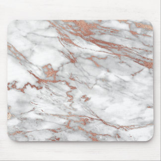 Rose Gold Marble Mouse Pad