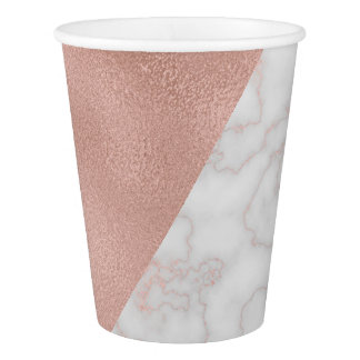 Rose Gold & Marble Paper Cup