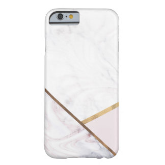 Rose Gold Marble Swirl & Blush Pink Bronze Glam Barely There iPhone 6 Case