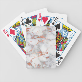 rose gold marble texture bicycle playing cards