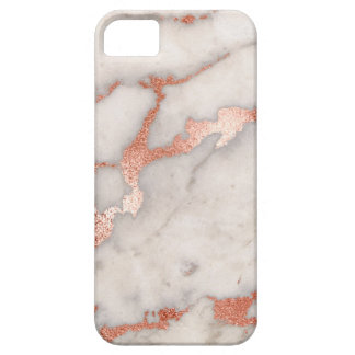 Rose Gold Marble Texture Case For The iPhone 5