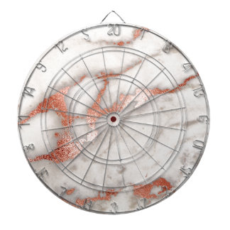 Rose Gold Marble Texture Dartboards