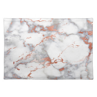 rose gold marble texture placemat