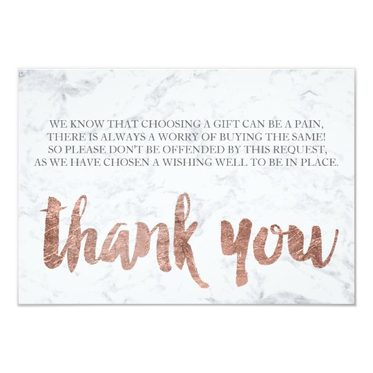 rose gold marble thank you gift card 2 zazzle ca