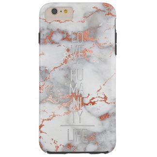 Rose Gold Marble Tough iPhone 6 Plus Case