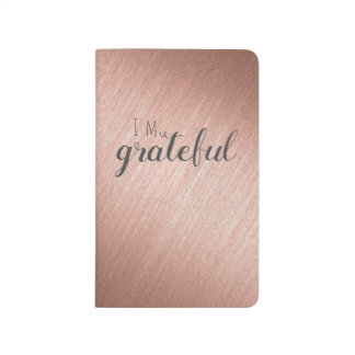 rose gold matte gratitude journal