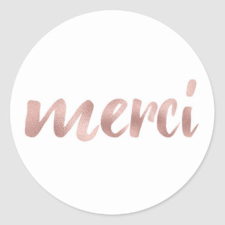 Rose gold merci stickers