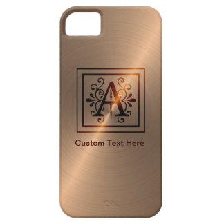 Rose Gold Monogram A iPhone 5 Case