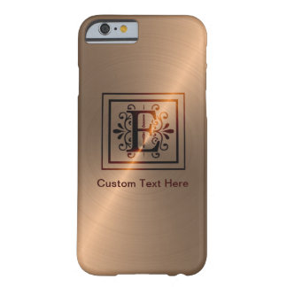 Rose Gold Monogram E Barely There iPhone 6 Case