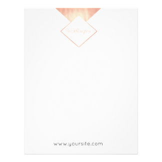 Rose Gold  Obsession Metallic Feminine Modern Letterhead Template