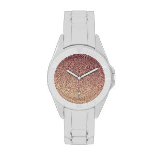 Rose Gold Ombre Glitter Sand Look Pink Watch face