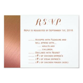 Rose Gold on Textured Back R.S.V.P. Card