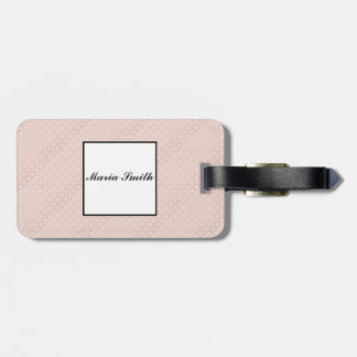 Rose Gold pattern. Luggage Tag