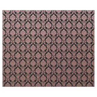 Rose Gold & Peach glitter and black damask Wrapping Paper