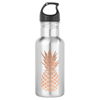 rose gold pineapples 532 ml water bottle