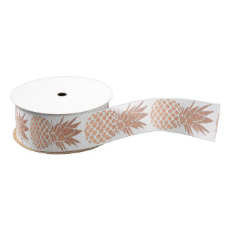 rose gold pineapples grosgrain ribbon