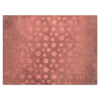 Rose Gold Pink Blush Grungy Dots Bricks Tissue Paper