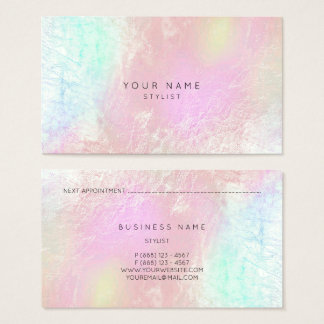 Rose Gold Pink Blush Mother Pearl Stylist Vip Business Card