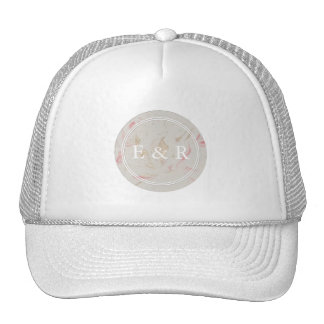 Rose Gold Pink Champagne Swirled Marble Trucker Hat