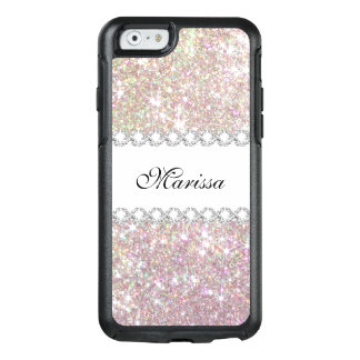 Rose Gold Pink Glitter Otterbox iPhone 6/6s Case
