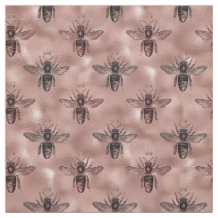 Rose Gold Queen Bee Fabric