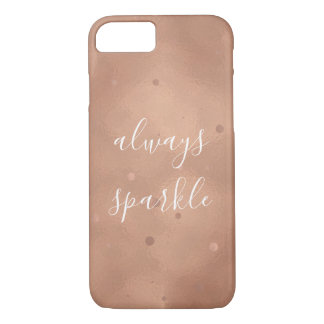 Rose Gold Sparkle iPhone 8/7 Case
