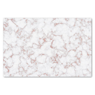 Rose Gold Stone White Gray Stone Marble Tissue Paper
