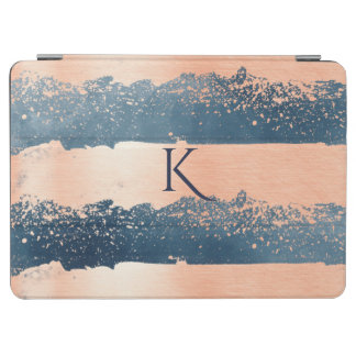 Rose Gold Stripes Monogrammed iPad Air Smart Cover iPad Air Cover