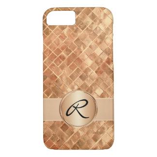 Rose Gold Tiles and Custom Monogram iPhone 8/7 Case