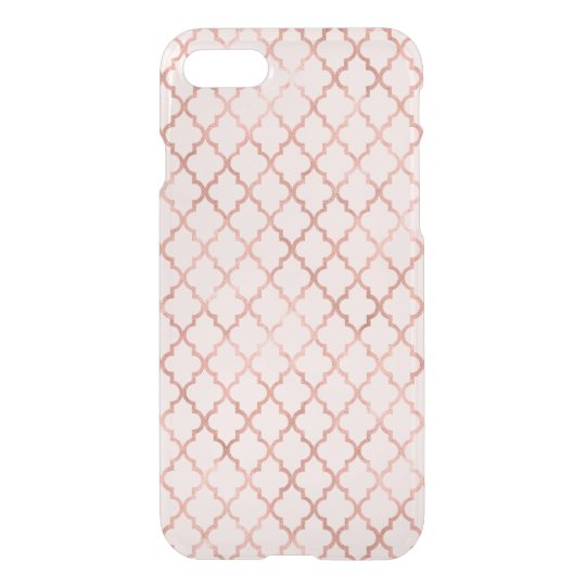 Rose Gold Trellis Pattern iPhone 8/7 Case