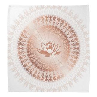 Rose Gold White Lotus Mandala Bandana