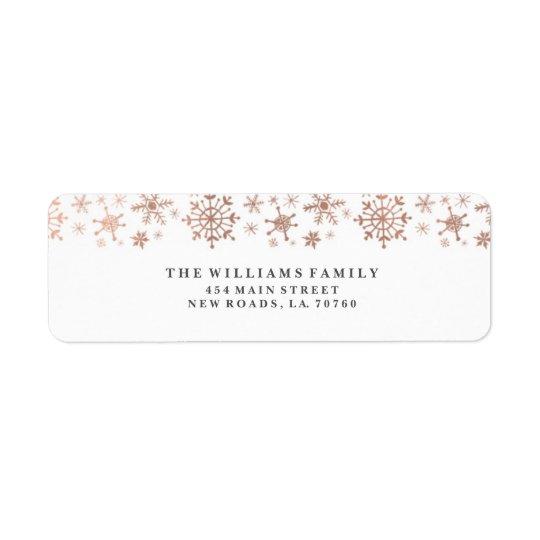 Rose Gold Winter Wonderland Mailing Labels