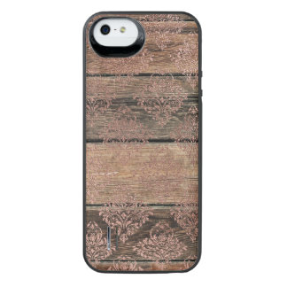 Rose Gold Wood Power Gallery Battery Case