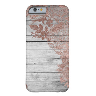 Rose Gold Wood Vintage Distressed Barely There Barely There iPhone 6 Case