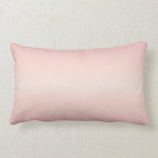 Rose Gradient Stripes Lumbar Pillow