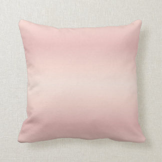 Rose Gradient Stripes Throw Pillow