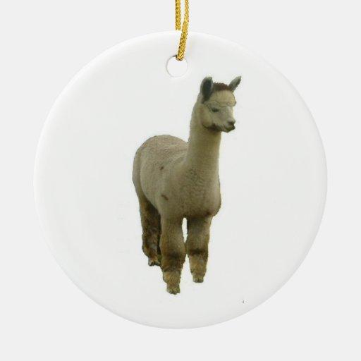 Rose grey alpaca ornaments