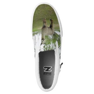 Rose Grey Alpaca Slip-On Sneakers