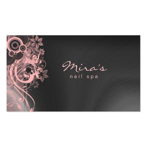 Rose gris de aménagement floral de carte de visite