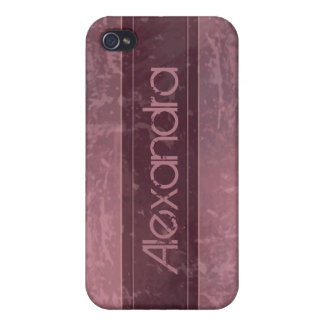 Rose Grunge Marble Distressed iPhone 4 Cases