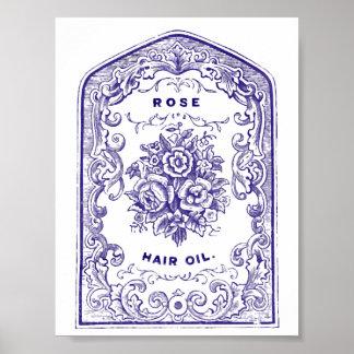 Rose Hair Oil Poster